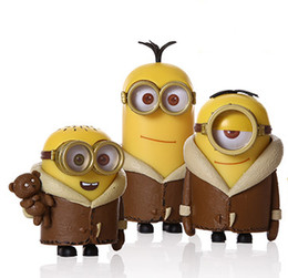 Wholesale Despicable Clothing - Despicable Me Goddess of milk dad big eyes of small yellow people Bob Kevin Stewart winter clothes cute doll dolls do decorations gifts