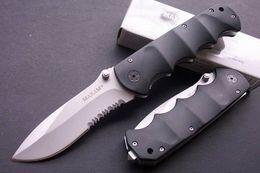 Wholesale Cool Hunting Folding Knives - Hunting Knife Sharp MAXAM Y0853 Black Bear 440 56HRC Cool Knife OUtdoor Serrated Pocket Knife Gray Titanium Blade Xmas Gift F527E