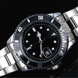 Wholesale Clocks Black - 2016 Hot Roles Automatic Date Watches men Luxury brands SS strap gold x watch one Business clock Men goodlooking watch