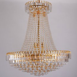 Wholesale Empire Chandeliers - Wholesale-Luxury Royal Empire Golden Europen Crystal Chandelier Large Contemporary Lighting French Style Hotel Lobby Design