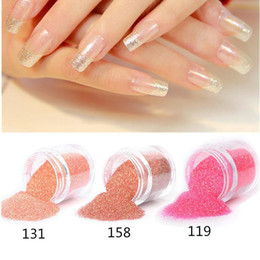 Wholesale Color Nail Powder For Gel - 15 Color Nail Art Glitter Powder Dust For UV GEL Acrylic Decoration Tips