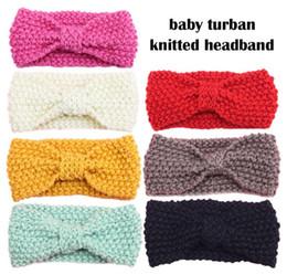 Wholesale Crochet Sets For Infants - Hot Mom and Me Crochet Winter Headband Set Women Knit Headband Infant Crochet Headbands Twist ear Warmer For Girl 1Set =2pcs DHL FREE