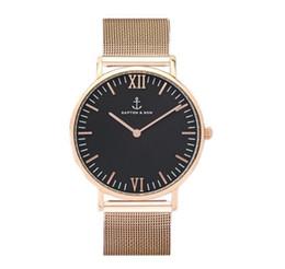 Wholesale Orange Band Watches - Relogio Masculino 2018 Quartz Watch Women Fashion KAPTEN & SON Brand women men Unisex steel metal band quartz wrist watch
