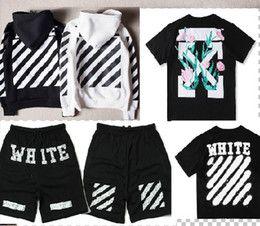 Wholesale Men Wind Pants Blue - Off White 2017 Hoodies Jacket OW T shirt Pants Men Women High Quality Kanye West Off White Abloh Virgil Hoodie Sweatshirt Pullover