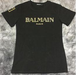 Wholesale Cool Long Women Shirt - 2016 New Summer BALMAIN Tshirt Women's Crew T-Shirt BALMAIN Pairs Women Tee Fashion Top Unsex Style Cool