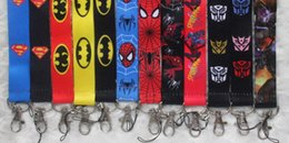 Wholesale lanyard mobile - New Lot 20 Pcs cartoon Superhero Fashion Lanyards Straps For ID Badge Mobile Phone + Free Shipping
