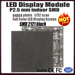 Wholesale Full Color Led Display - Wholesale-free shipping p2.5mm indoor SMD led module,64X64 pixels 1 16 scan high refresh led display panel,indoor full color video display
