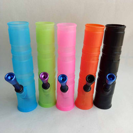 Wholesale Hookah Box - Portable Hookah Silicone Water Pipes for Smoking Dry Herb Unbreakable Water Percolator Bong Smoking Oil and Concentrate Metal Plastic Pipes