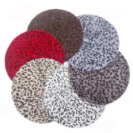 Wholesale Women Wool Beret - 2016 New Arrival Fashion Women Hat Sexy Female Winter Wool Leopard Printed Beret Cap 5 Colors Beanie Hats
