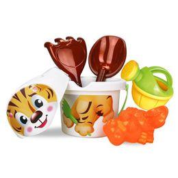 Wholesale Sand Buckets Beach Toys - Wholesale- Cartoon Tiny Beach Sand Tools Toys Bucket Set Children Outdoor Toys Z815