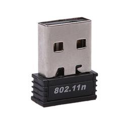Wholesale Wifi Wireless Transmitter - Wholesale- 5pcs Lot USB 2.0 WiFi Wireless Adapter Mini 150M Network LAN Card Portable wifi receiver & transmitter 150Mbps 802.11 ngb card
