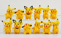 Wholesale Order Mini Toys - Poke Pikachu Version Mini Figure Toys PVC Doll Collective Toys Best Gifts For Kids 12pcs set 3.5-5cm Min Order 120pcs