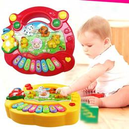 Wholesale musical instruments for children - Toy Musical Instrument Baby Kids Musical Educational Piano Animal Farm Developmental Music Toys for Children Gift -17 BM