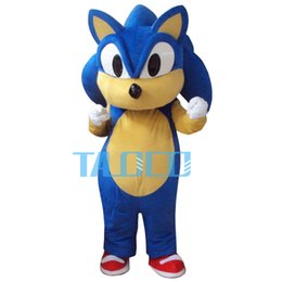 Wholesale Sonic Costume Adults - Wholesale-High quality Sonic Mascot Costume Cartoon Fancy Dress Adult Siz Free Shipping