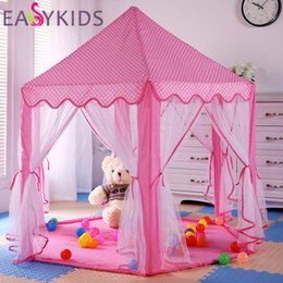 Wholesale Funny Activities - Portable Princess Castle Play Tent Children Activity Fairy House kids Funny Indoor Outdoor Playhouse Beach Tent Baby playing Toy +NB