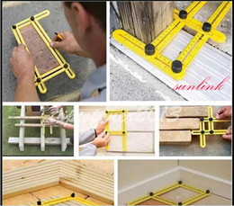 Wholesale Ruler Tool - lock into any desired angle measure ruler kid very useful multi tool for creating complex shapes and angles