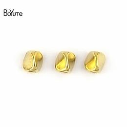 Contas BoYuTe 100 Pcs 5 MM de Metal Latão Torcida Nepal Beads Jóias Diy Acessórios Contas para Fazer Jóias de