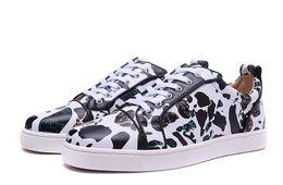 Wholesale Denim Spots - [Origianl Box]Top Luxury Designers Franch Red Bottoms Gondolier Men Flat Sneaker Spots Spell Junior Fashion Brand Casual Party Shoes