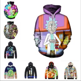 Wholesale Womens Xl Hoodies Mens - Newest Fashion Womens Mens Rick and Morty Funny 3D Print Casual Hoodies Pullovers Sweatshirts LMS0053