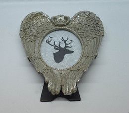 """Wholesale Wholesale Frames Birds - 4x6"""" Birds Design Picture Frames irregular shape Silver Creative Resin Photo Frame With fully plumage Swallow"""
