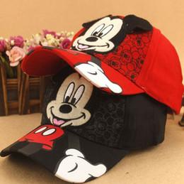 Wholesale Girls Fashion Baseball Hat - New Baseball Cap Kids Baby Boys Girls Adjustable Caps Fashion Mickey Minnie Children Hats bone