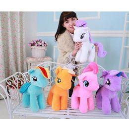 Wholesale Cute Stuffed Horse Toys - Super Cute! !20cm Cartoon Kids TV Rainbow Horse Animal Little Horse Stuffed Doll Plush Toys Kids Birthday Gifts Wholesale