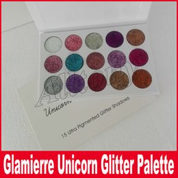 Wholesale New Eye Shadow Palette - New brand Glamierre Unicorn Glitter Eyeshadow Palette 15 Colors Makeup Shimmer Shinny Eye Shadow Palette DHL