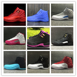 Wholesale Canvas Shoes Size 12 Women - Wholesale 2016 air retro 12 MASTER men women retro 12s low GS gym red basketball shoes sports MENS sneakers boots womens size 36-47
