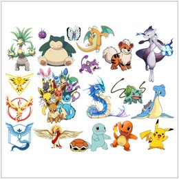 Wholesale Wallpapers For Children Room - 2016 Hot Pikachu Decal Removable Wall Sticker 45*60cm wallpapers Home Decor Home Decoration Gift For Children Free DHL