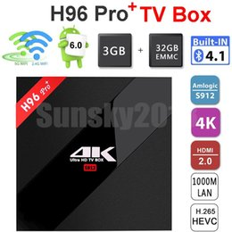 mini pc android dual core Promo Codes - Android 7.1 TV Box 3GB RAM 32GB ROM H96 Pro Plus Amlogic S912 Octa Core Dual Wifi Bluetooth4.1 Streaming 4K Media Player Mini PC TVbox Movie