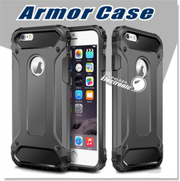 Wholesale Pc Resistance - For Iphone X 8 7 Samsung Galaxy S8 Case , iPhone 6 6s cover Armor Hybrid Superior Hard PC And Pliable Rubber Drop Resistance Defend Case