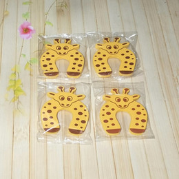 Wholesale Door Guard Protector Baby - Wholesale- 6Pcs Yellow Deer Cute Finger Protector Baby Kids Safety Door StopperCushion Anti Finger Pinch Lock Baby Safety Guard