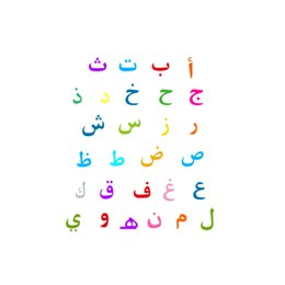 Wholesale Arabic Cartoon - Wholesale DIY Arabic Alphabet Wall Stickers Preschool Child Childlike Children Colorful Glow Vinyl Removable & Waterproof Wall Decal