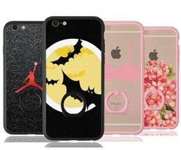 Wholesale Gold Apple Pendant - For Apple iphone 6 6S plus SE silicone case ultra thin Plating TPU cartoon phone cases pendants cartoon superman Captain America