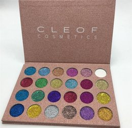 Wholesale Makeup Shimmer Eye Palette - NEW Glitter CLEOF palette eyeshadow makeup Ultra Pigmented Glitter Shadows Shimmer Beauty cleof cosmetics eye shadow Palette 24 colors set