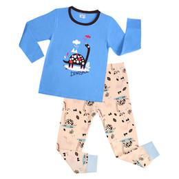 Wholesale Dinosaur Pyjamas - 6 Sets  lot New Styles Children Baby Boy's Kids Long Sleeve Pajamas Suit Cute Dinosaur Boys Girls Sleepwear Homewear Pyjamas