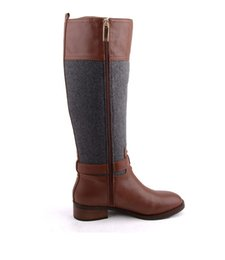 Wholesale Riding Boots For Women - Winter Keep Warm Snow Boot For Women Mixed Color Zip Martin Riding Boots Fashion Knee-High Boots for Women Zipper Leather Shoes, Sz 35-40