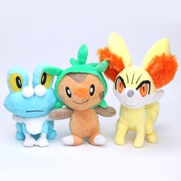 Wholesale Chespin Plush - 30pcs set Piakchu Plush XY Series Chespin Fennekin Froakie Plush Stuffed Animal Doll Toys good kids toy