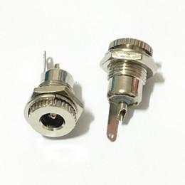 Wholesale Mini Jack Socket - 50pcs Lot Freeshipping Copper 5.5 mm x 2.5 mm DC Power Jack Socket Female Panel Mount Connector adapter