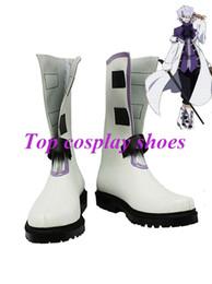 Wholesale Break Boots - Wholesale-Freeshipping anime Pandora Hearts Xerxes Break White & Black Cosplay Boots shoes #GAI065
