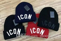 Wholesale Girl Christmas Hat - Hot sale Unisex brand embroidery ICON Spring winter men knitted hat crimping men casual sports outdoor warm beanies women Gorros touca caps