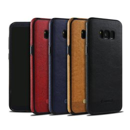 Wholesale galaxy note colors - Phone Cases Leather Case PU Business Stitching For Samsung Galaxy S6 S7 S8 Note 8 S9 Plus Case Full Package Soft 4 Colors