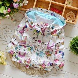 Wholesale 5t Cardigan - MORENNA Spring 2017 New Cotton Baby Girls Coat Spend Three Flowers Lollipops Dot Jacket Cardigan Kids Children Clothing