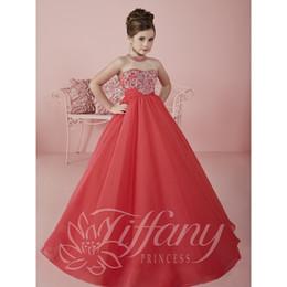 Wholesale Girls Dresses Chiffon Pink Halter - High Waistline Chiffon Princess Dress for Kids Flower Girls Dresses for Wedding Sheer Bodice Halter 2016 New Girls Pageant Dress C62