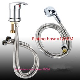 Wholesale Sink Faucets - Hair salon shampoo finish single handle basin bed supporting bathroom products sink faucet mixer hair-wash-basin Hot Sale