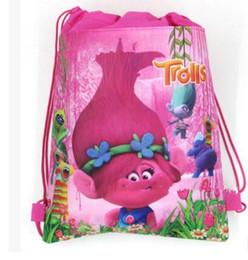 Wholesale Kids Slings - Cosplay Moana Trolls Backpacks Non Woven Sling Bag Shopping Bag Children Kids School Bags backpack KKA2328