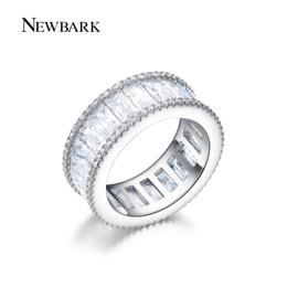 Canal de bijoux on-line-NEWBARK Canal Anel Minimalista Anéis Para As Mulheres de Prata Cor Minúsculo CZ Anillos Mujer Mulheres Jóias Bijoux Femme q170720