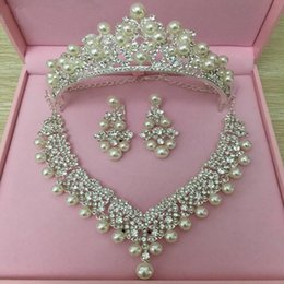 Wholesale Platinum Hair Accessories - new pearl bridal jewelry sets Accessories