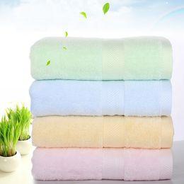 Wholesale Cheap Towels Bulk - 100% Bamboo Fiber Bath Towel 4 Color Bulk Beach towel Spa Salon Wraps Terry Towels cheap towel 70*140cm