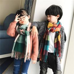 Wholesale Little Girls Scarfs - Children's scarf little girl and little boy scarf child collar clip autumn and winter scarf fashion warm tie children's